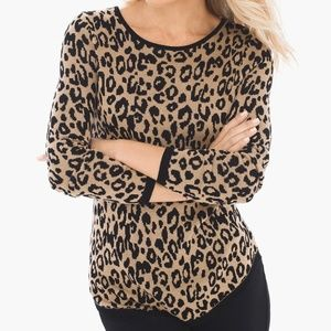 Chicos Animal Jacquard Mindy Pullover